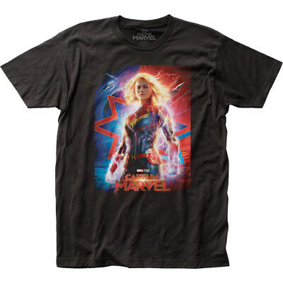 Authentic Marvel Comic Captain Marvel Movie Poster Adult Soft Unisex T-shirt top