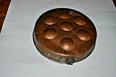 Antique Copper/Tin Biscuit Pan Pancake Pan Wall Hanging Brass Handles