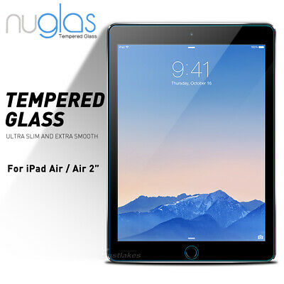Apple iPad Air / Air 2 GENUINE NUGLAS Premium Tempered Glass Screen Protector