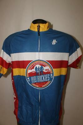 Colorado Proud Ride the Rockies Mens Medium cycling bike jersey DENVER POST c1aabfc8a