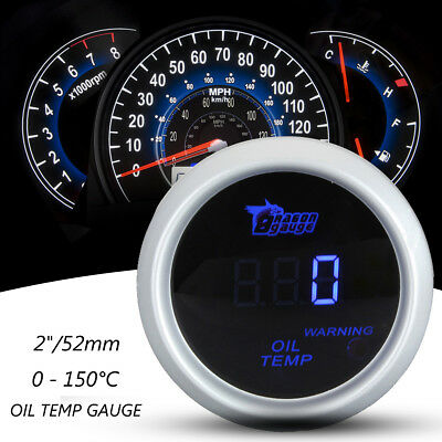 "2"" 52mm Universal Car Digital LED Oil Temp Temperature Gauge Meter Sensor 0~150℃"