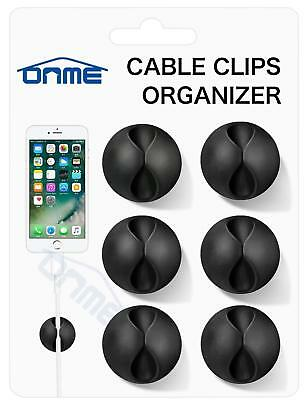 5 Pcs Multipurpose Desktop Cable Tidy Holder Clips Wire Cord Line Fixer Wir F6M8