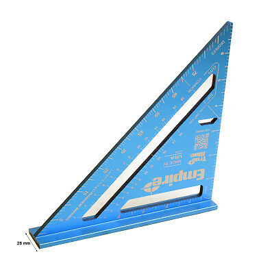 Rafter Square Triangle Ruler Protractor Measure Aluminum 7in