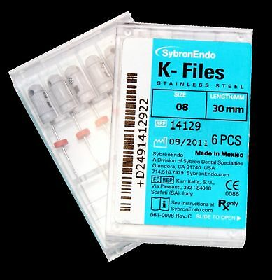 Dental Endo Stainless Steel Root Canal sybron Hand Use K-Files 15#-80# 25/21mm.