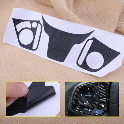 Carbon Fiber color Sticker Steering Wheel Decoration Fit For Honda Civic 2016-17