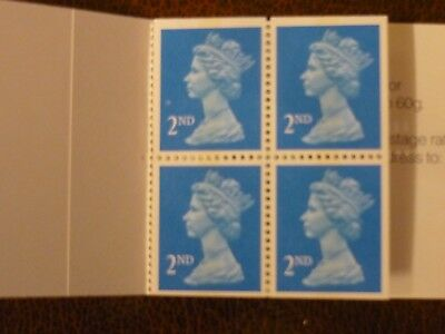 GB 1989 4x 2nd class Booklet 3 edges SG 1445b imperf Mint never hinged SG HA1
