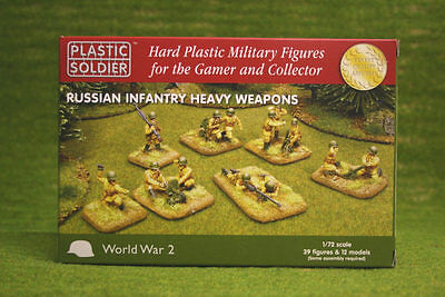 Plastic Soldier WW2 Russian Heavy Weapons 1/72 scale