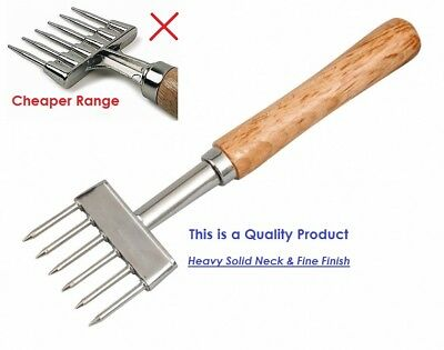 Ice Chipper Carbon Steel Wood Handle Crusher Bar Tool Cocktail Beaumont Pick