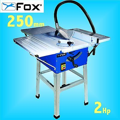 FOX F36-522C 240v 250mm 10 Table Bench Circular Saw with Stand & Extension table