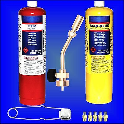 Profire Plumbers Torch Blowlamp MAPP Propane Gas bottle heating brazing solder