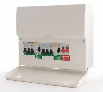 BG 6 Way Dual RCD Metal Consumer Unit Amendment 3 Compliant FUSE BOARD LOADED
