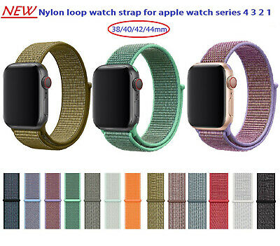 38/40/42/44mm nylon band loop watch strap for apple watch iwatch series 4 3 2 1