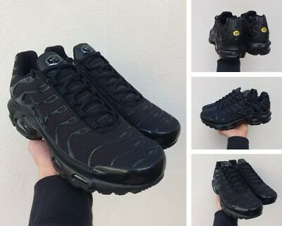 new style 4e504 ac5f8 Scarpe Nike Air Max TN Plus Squalo Uomo da Ginnastica Running Sneakers 42  Black