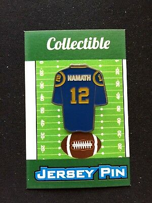 Los Angeles Rams Joe Namath jersey lapel pin-Classic Collectable- 1 Best  Seller bdb7866d7