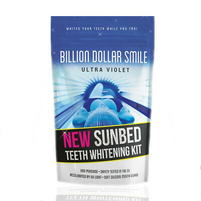 Billion Dollar Teeth Whitening UV Sunbed Kit with mouth guard Non peroxide