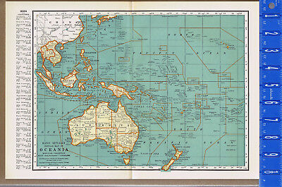 World Map 1933.1933 Map Of Australia From The Commercial Atlas Of The World