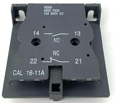 YuCo YC-AU-EH Auxiliary Replacement for CAL 16-11A 1NO1NC fits ABB EH Contactors