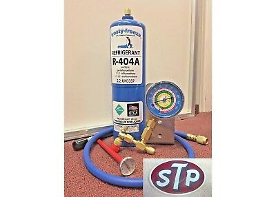 R404a, Recharge Kit, 28 oz., w/Check & Charge-It Gauge & Charging Hose, Kit A