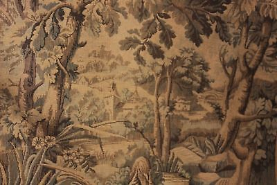 Vintage French tapestry woven curtain Aubusson type design machine woven drape