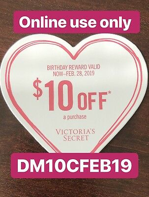 (1) Victoria Secret $10 Birthday Reward (Online Use Only)