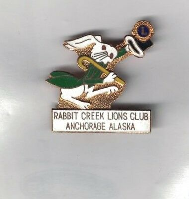 Vintage 1970-1980 Lions Club Pin Rabbit Creek Anchorage Alaska