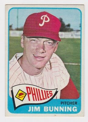 1965 Topps Jim Bunning Card #20 Excellent Condition