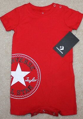 1e125146b8d4 NEW! BABY BOYS Converse Summer Outfit (Romper  All Star  Red) - Size ...