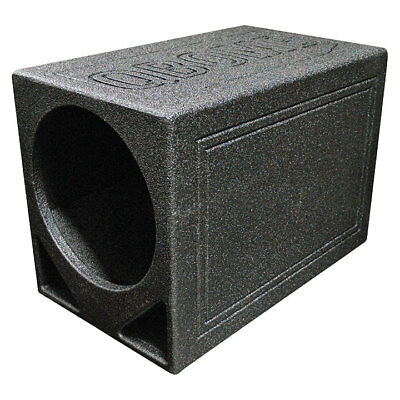 "Qpower Single 12"" Triangle Ported Finished w/Bed Liner"