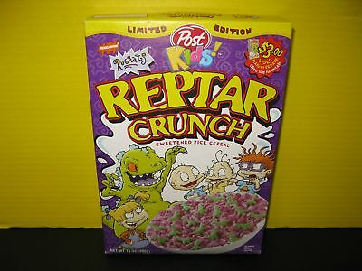 Limited Edition Nickelodeon Rugrats Post Kids! Reptar Crunch Sweetened Rice Cere