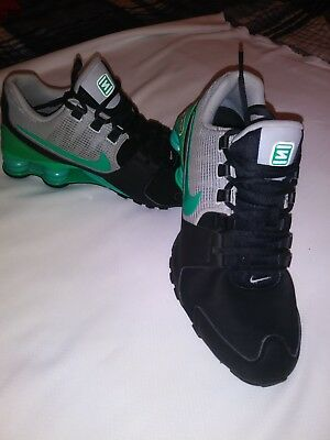 PRE OWNED NIKE Shox Turbo Athletic Running Shoes Mens Sz 14 Black ... 967c900e8