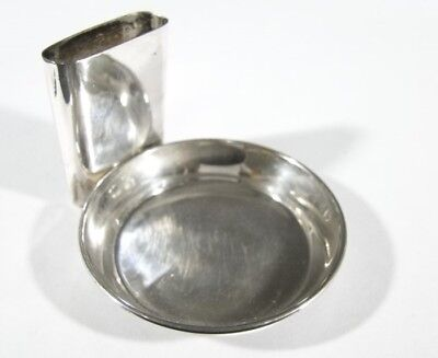 Vintage ASHTRAY with Attached Match Holder Sterling Silver #40