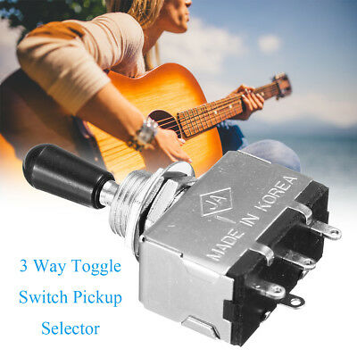 3 Way 5cm Toggle Switch Pickup Selector for Electric Guitar/Box Style /Black Tip