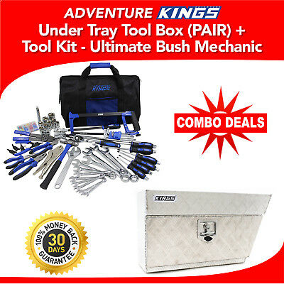 Adventure Kings Under Tray Tool Box (PAIR) + Tool Kit - Ultimate Bush Mechanic