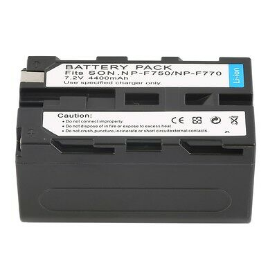 NEW 7.2V 4400MAH Replacement Li-Ion Battery for Sony NP-F750/770 /730 LZ