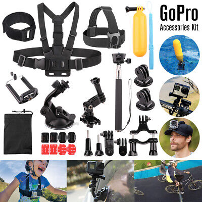 Head Chest Mount Floating Monopod Accessories For GoPro Hero 4 5 6 7 Camera Kits