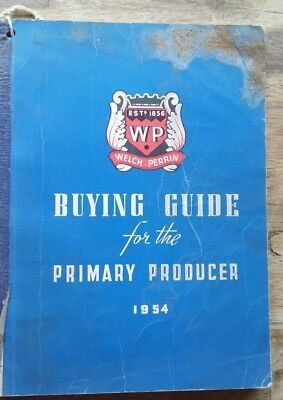 WELCH PERRIN 1954 PRODUCT CATALOGUE, 352  pages