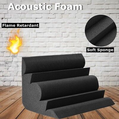 4PCS Studio Acoustic Foam Corner Bass Trap Sound Absorption Treatment Proofing