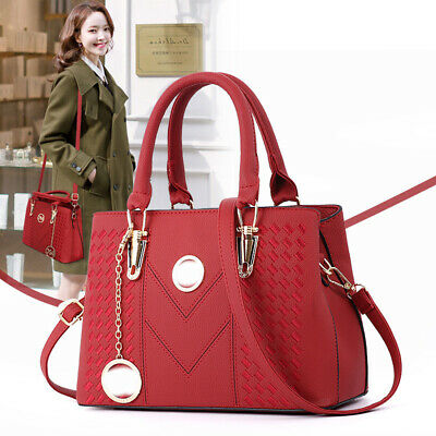 Women's Handbag PU Leather Ladies Tote Cross Body Shoulder Bag Purse Satchel Bag