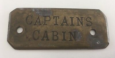 Plaque ancienne en Bronze  CAPTAINS CABIN