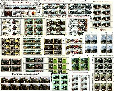 22 x North Yorkshire Moors Railway (NYMR) Letter Train / Locomotive Stamp Sheets