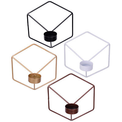 3D Geometric Nordic Style Candlestick Wall Candle Metal Holder Sconce Home Decor