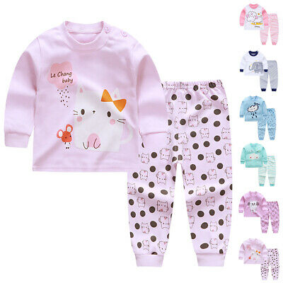 Kids Baby's Toddlers Boys Girls Clothes Top & Pants Pajamas Sleepwear Night Gown