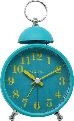 Nextime Alarm Clock Single Bell Silent Turquoise Retro Table Floor Quartz Watch