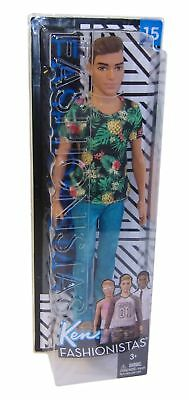 FJF73 Barbie Ken doll in pineapple shirt and boots Fashionistas, 30 cm tall, New