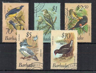Barbados 1979-83 Birds 70c to $10 FU CDS