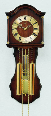 AMS 211/1 - Wall Clock - Walnut - Pendulum Clock - Mechanical Clock - New