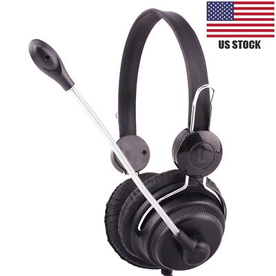 USB Stereo PC Gaming Headset Wired Headphone With Microphone Laptop for PS4/PS3