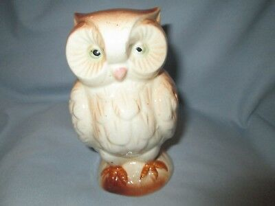 Old Ceramic Pottery Owl Bank  Marked Made In Occupied Japan