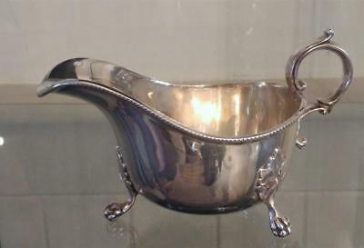 Fine Antique Barraclough Silver plated Gravy / Sauce Boat with Ball & Claw Feet