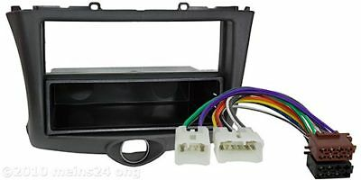 Radio Blende TOYOTA Yaris Set 1 DIN Einbau Rahmen ISO Adapter Kabel Autoradio